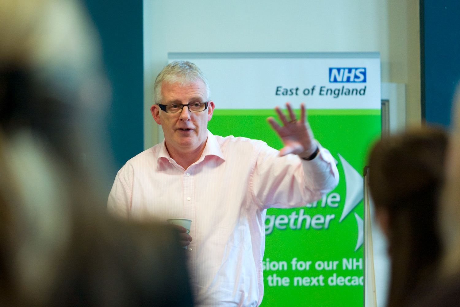 Press photography of NHS conference in Cambridge. Photo: Keith Mindham