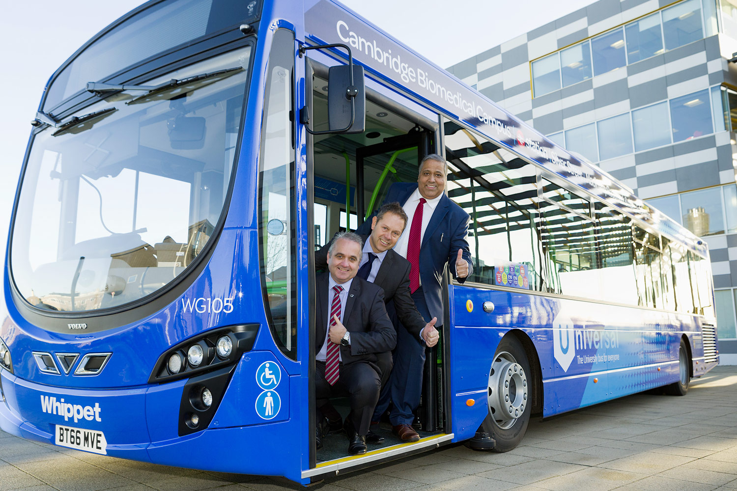 PR photography of Whippet Bus launch at Cambridge.