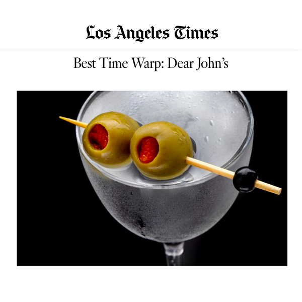 LA Times Best Martinis in Los Angeles