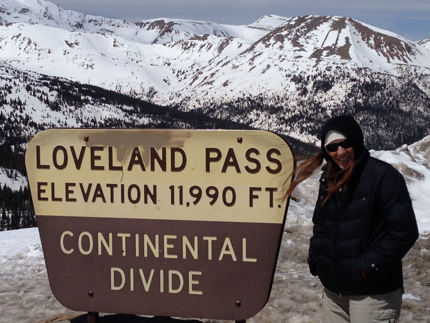 The top of the Continental Divide at Loveland Pass