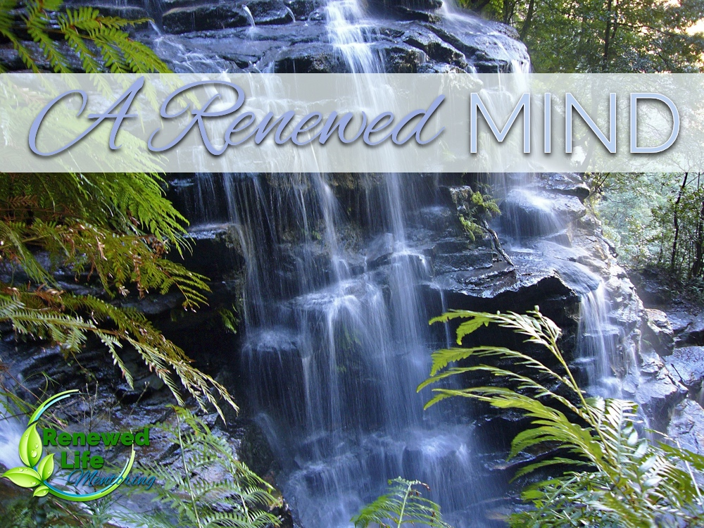 A renewed mind - Thinking God's thoughts after Him.Captivating our thoughts and giving them to Jesus.