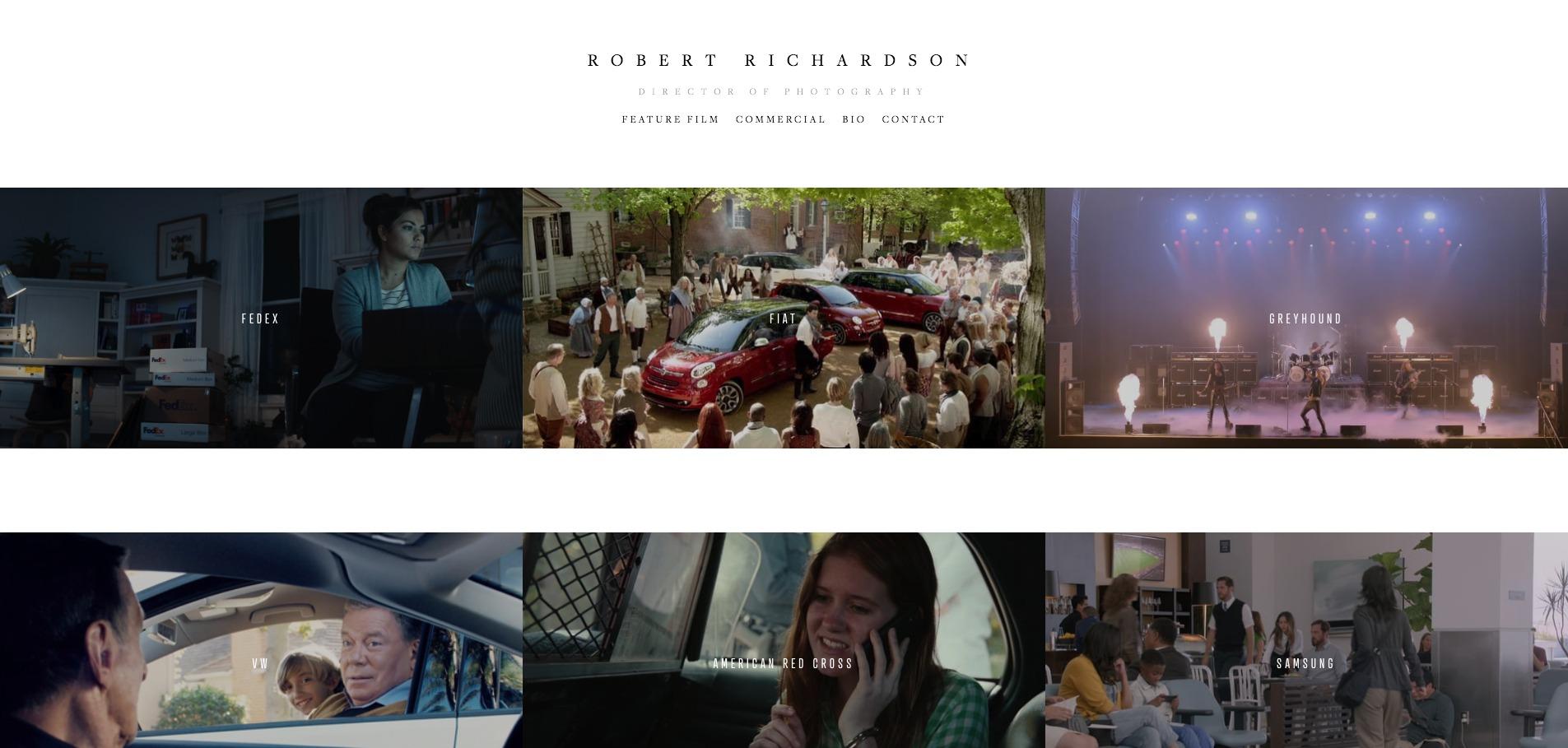 Robert Richardson   Commercial — Robert Richardson   Director of Photography.jpg