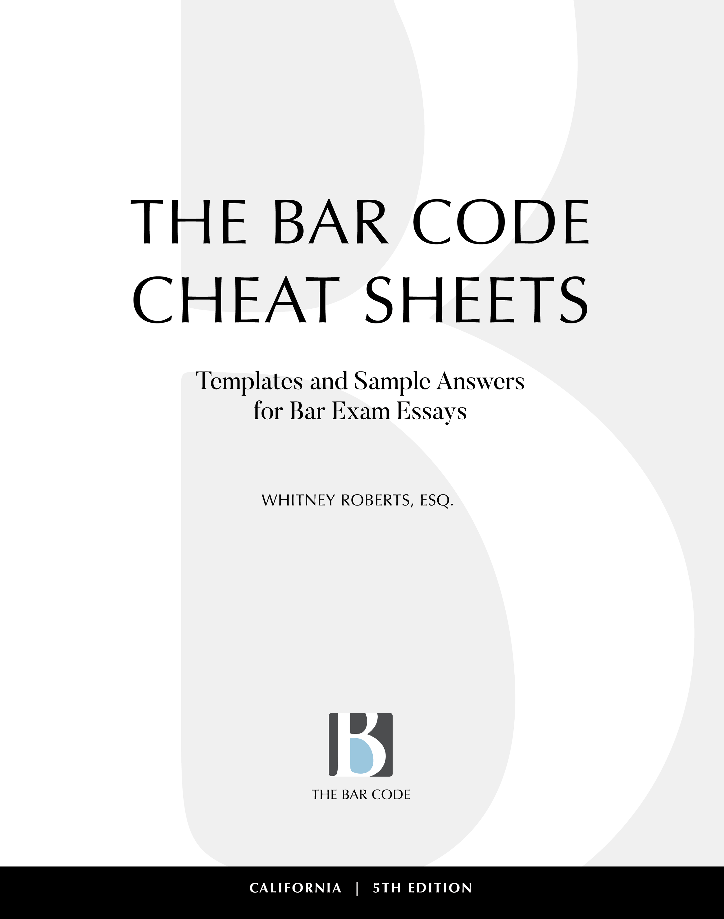 Book — The Bar Code