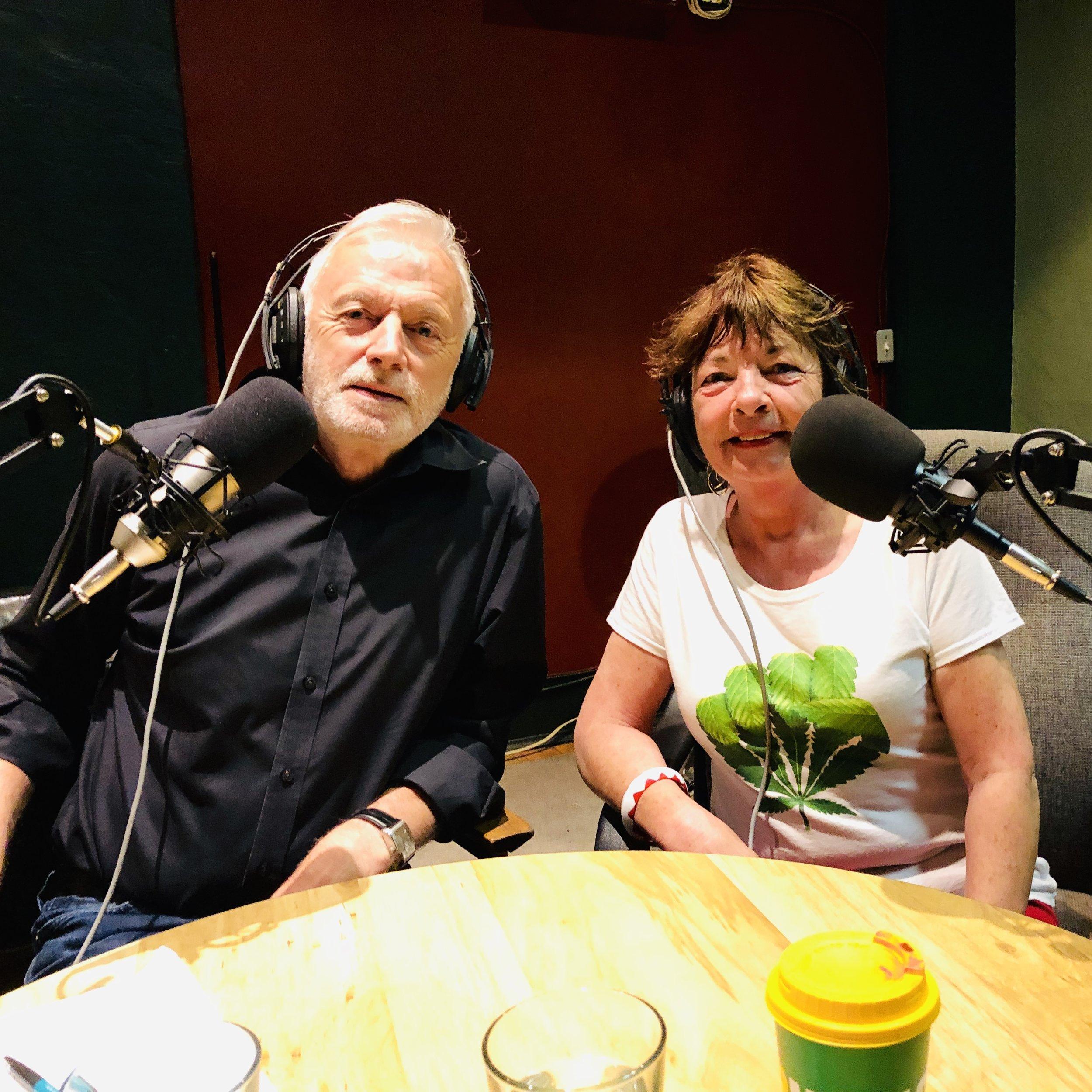 Ian Jessop & Corrie Yelland. Cannabis Health Radio Co-hosts.