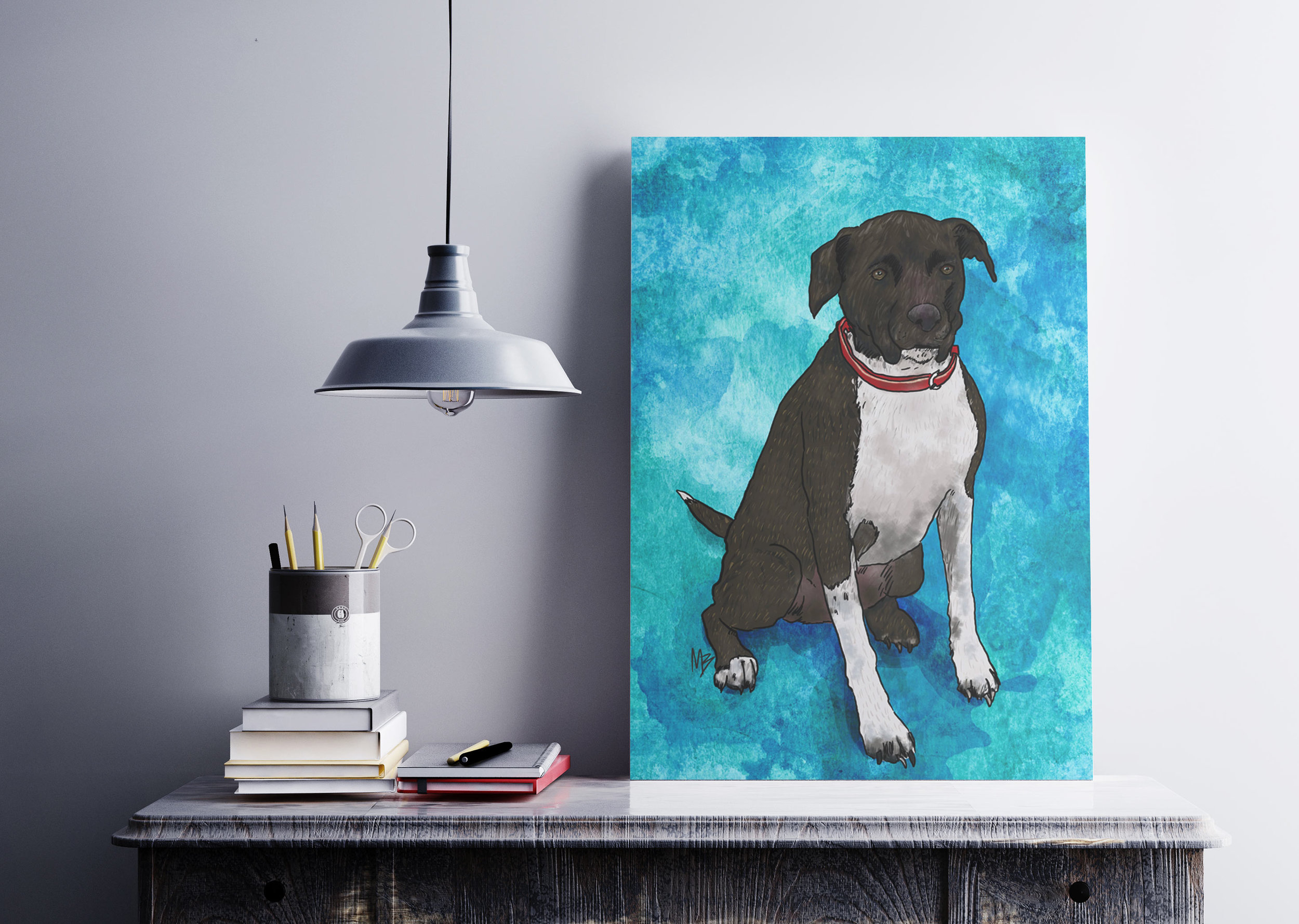 11 x 14 Custom Pet Portrait
