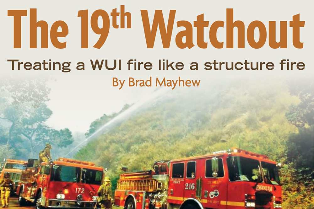 Short article on pitfalls of Wildland Urban Interface (WUI).