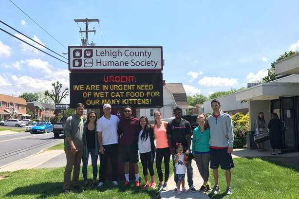 Community Programs - Programs feature discussion on humane education, animal welfare, and the important purpose an animal shelter serves in its community. Organizations, such as the Lehigh Valley Iron Pigs, have done many visits to the shelter!