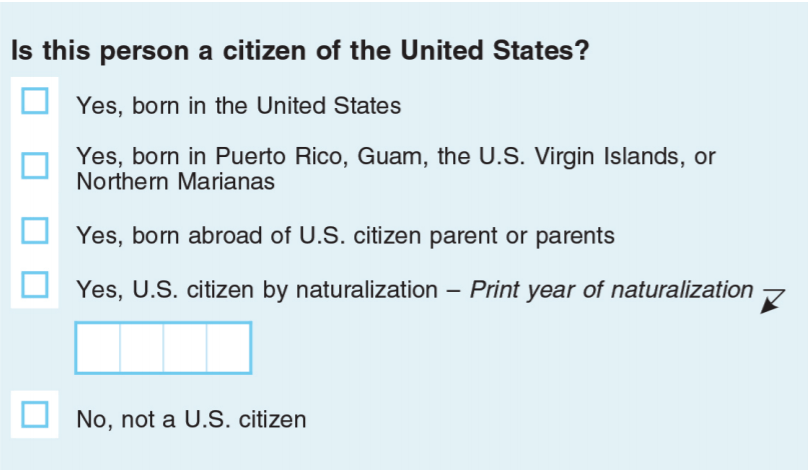 Above is the citizenship question that U.S. Commerce Secretary Wilbur Ross proposed to add to the 2020 census, at the direction of the Trump Administration. However, the form will NOT include a citizenship question, following a U.S. Supreme Court ruling.