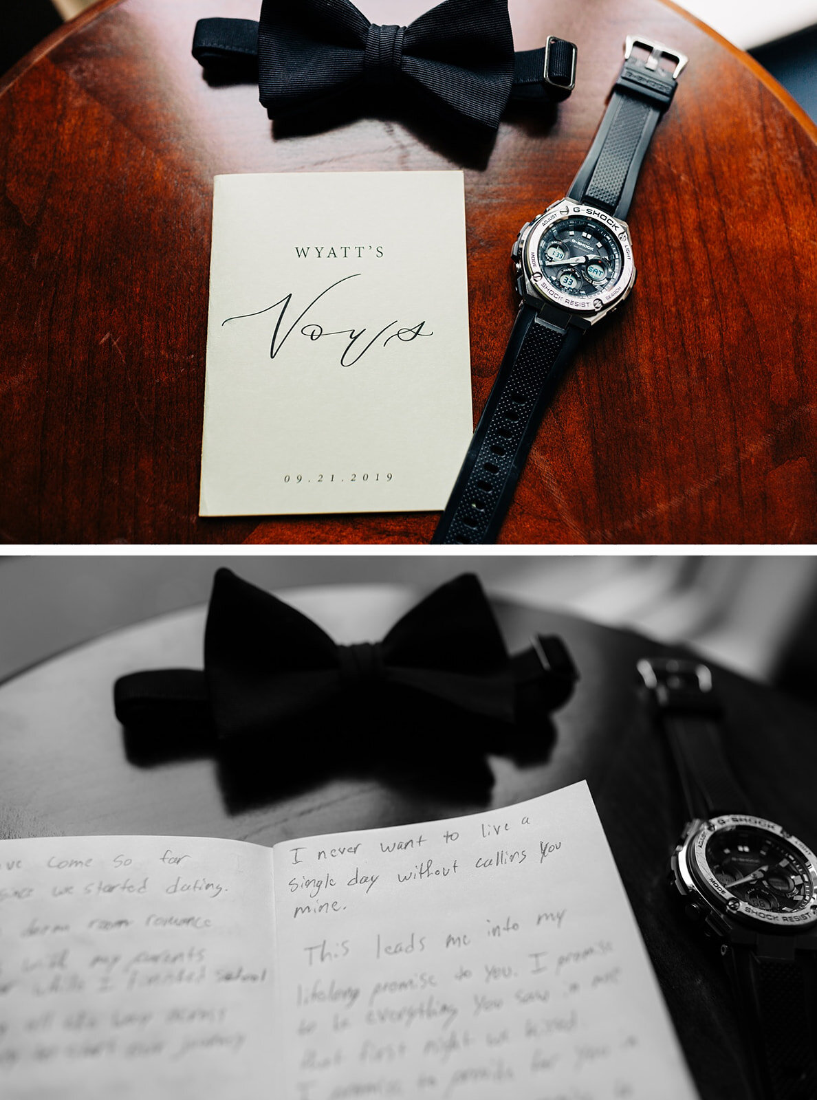 grooms vows and his wedding details