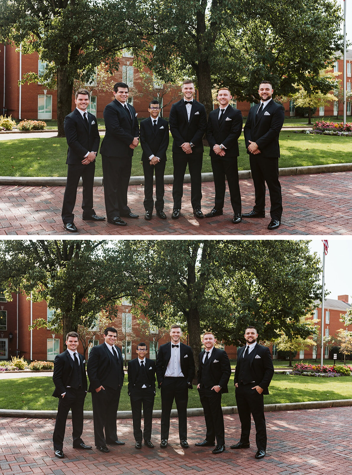 groom and groomsmen for wedding day formals