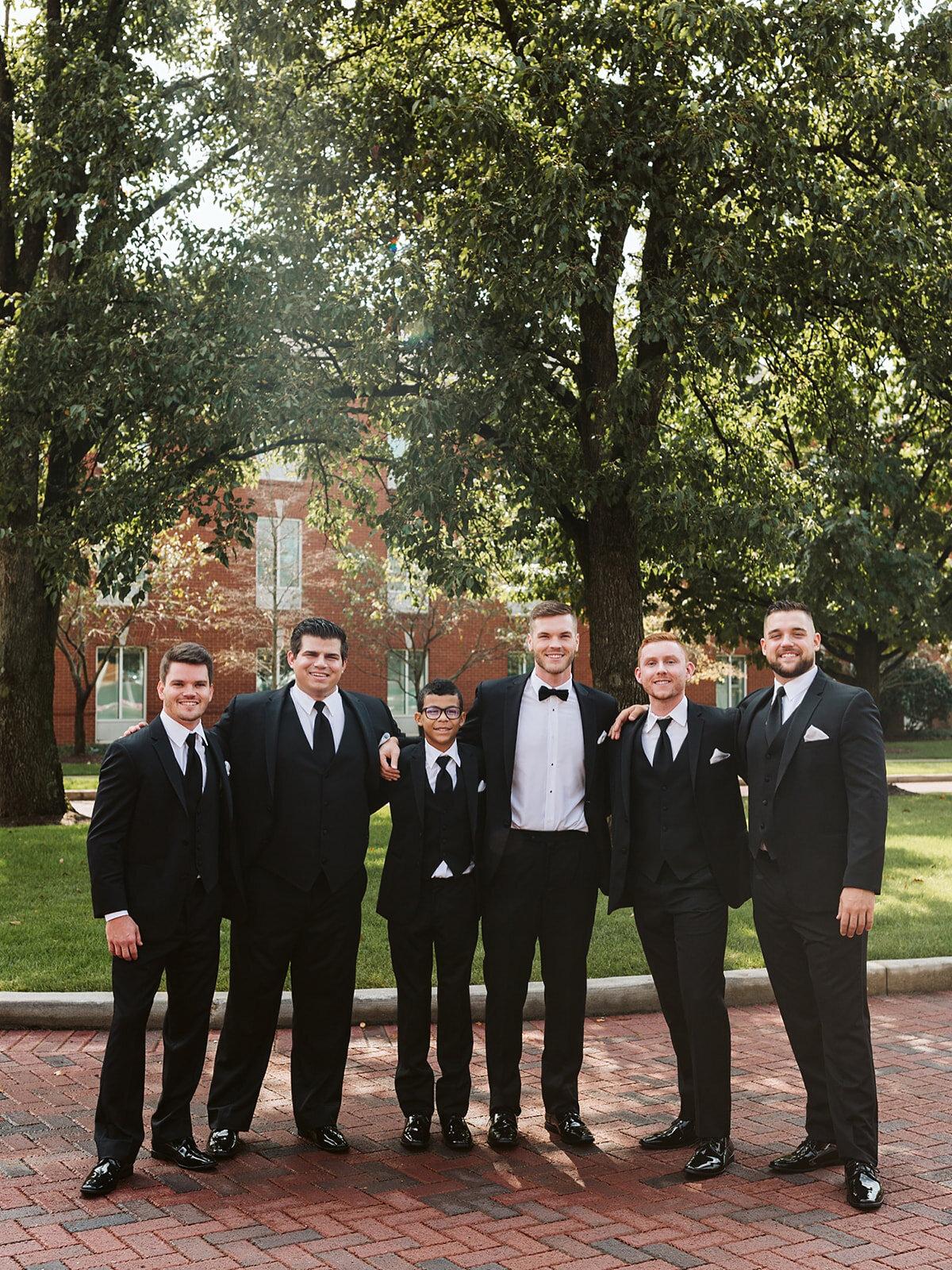 groomsmen on wedding day in columbus, ohio