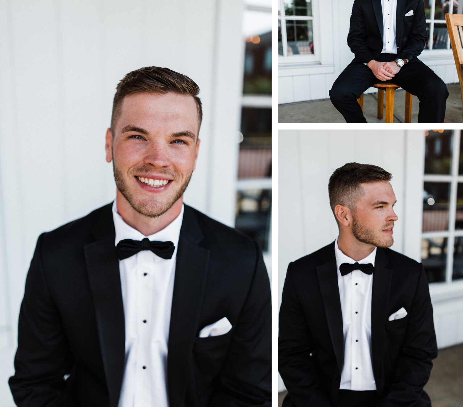 groom portraits at nationwide hotel and conference center in columbus, ohio