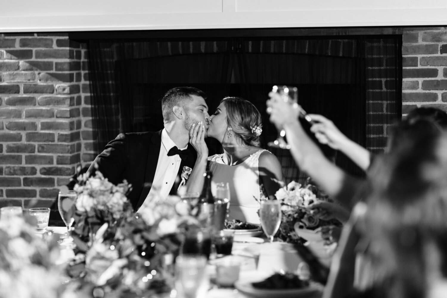 Bride and groom reception poses
