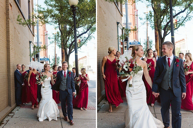 Bridal party in Kalamazoo