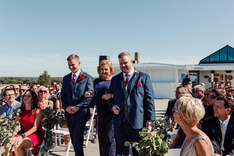 Wedding ceremony at Loft 310 Kalamazoo