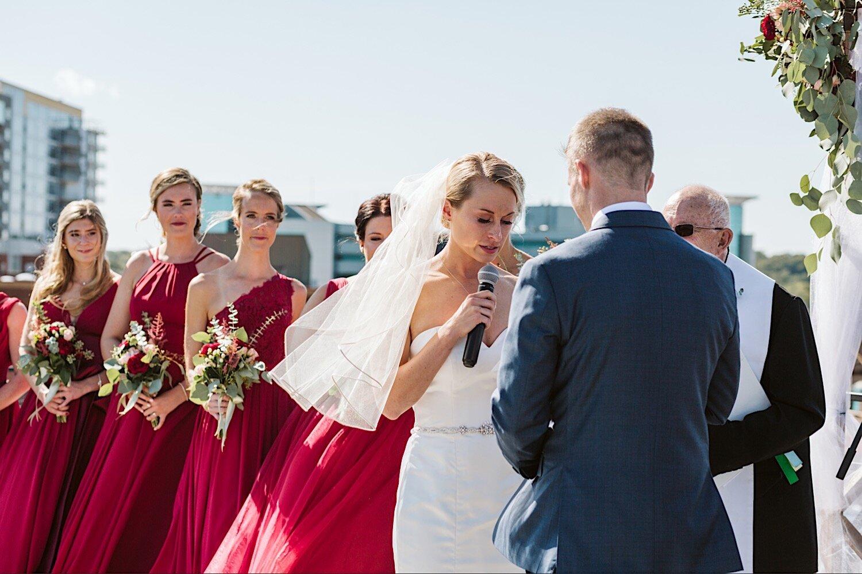 Wedding ceremony in Loft 310 Kalamazoo