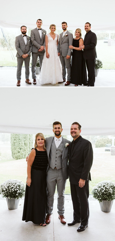 Wedding family portraits