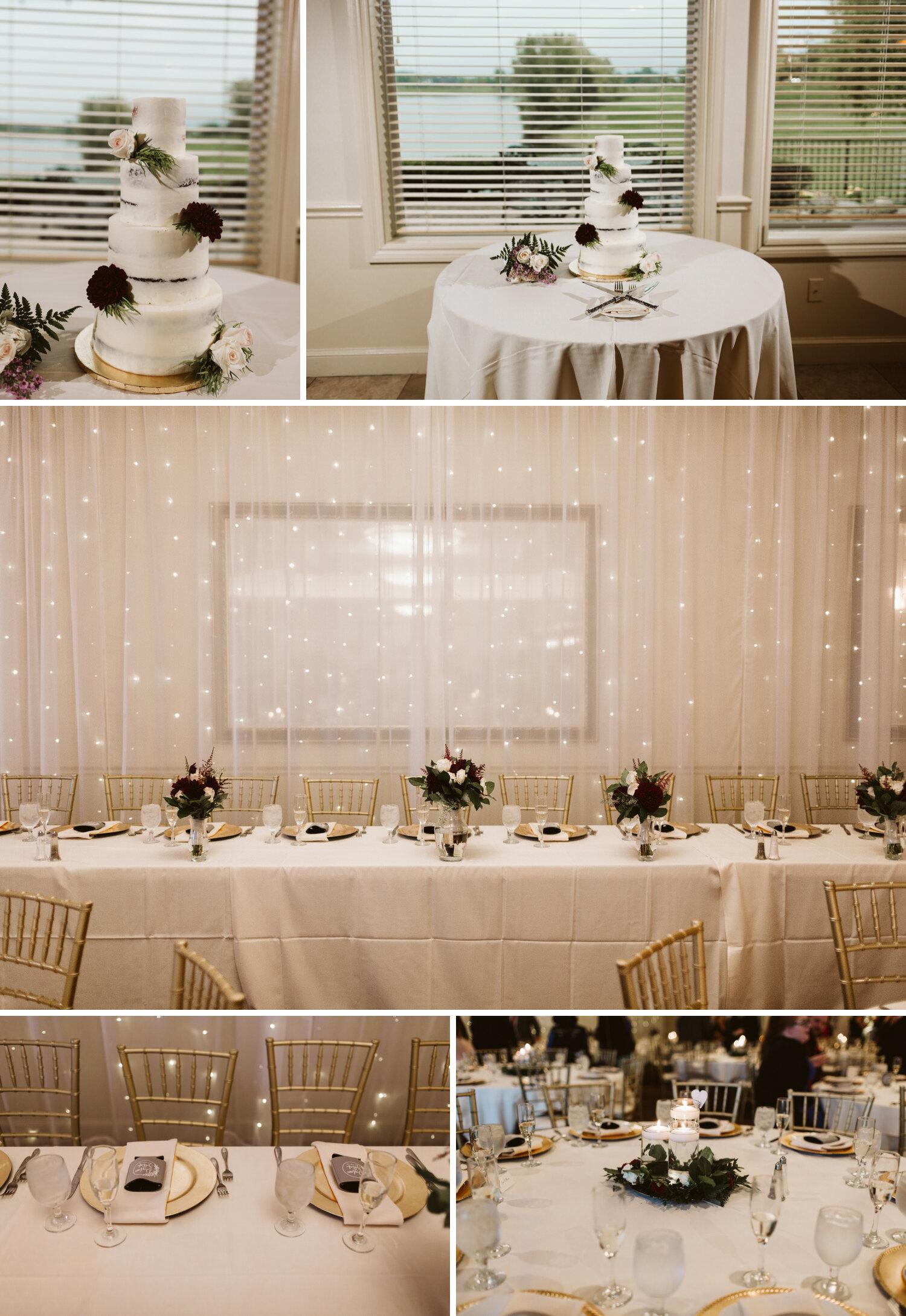Reception setting photos