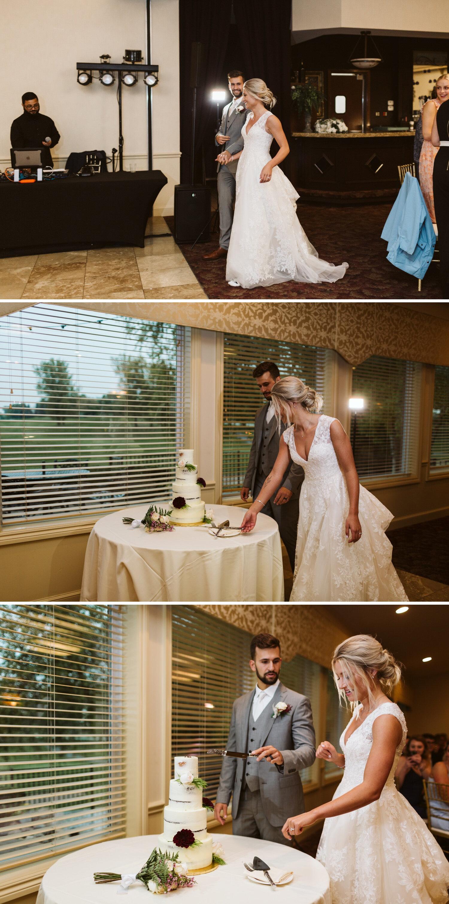 Bride and groom reception photos