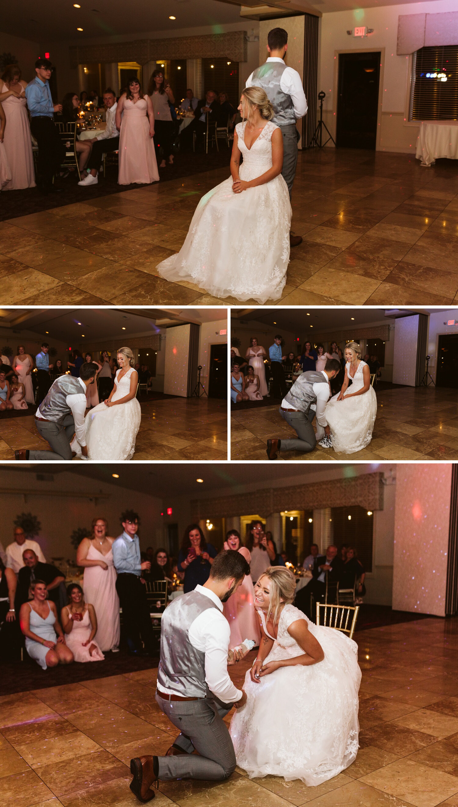 Wedding reception procession photos