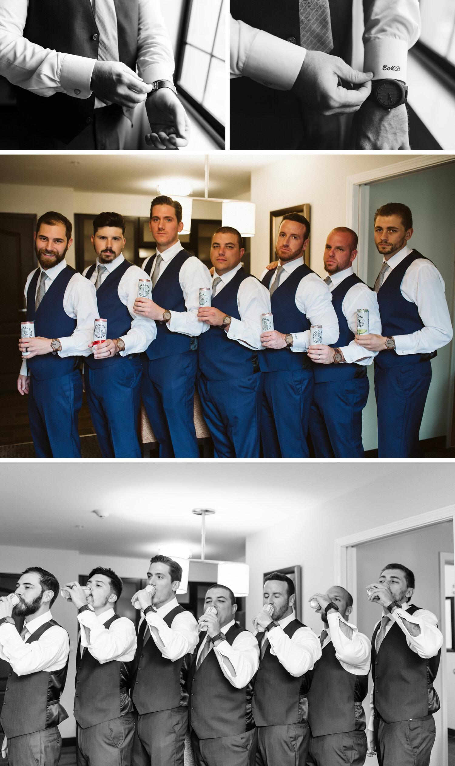 Groom and groomsmen photos