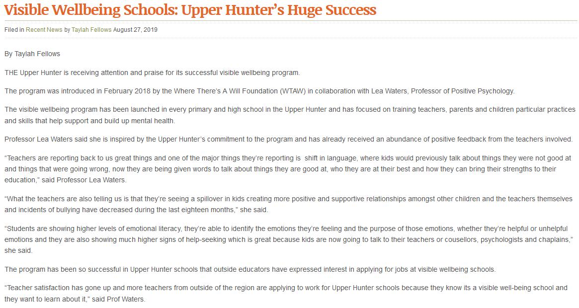 Visible Wellbeing Schools - Upper Hunters Huge Success.PNG