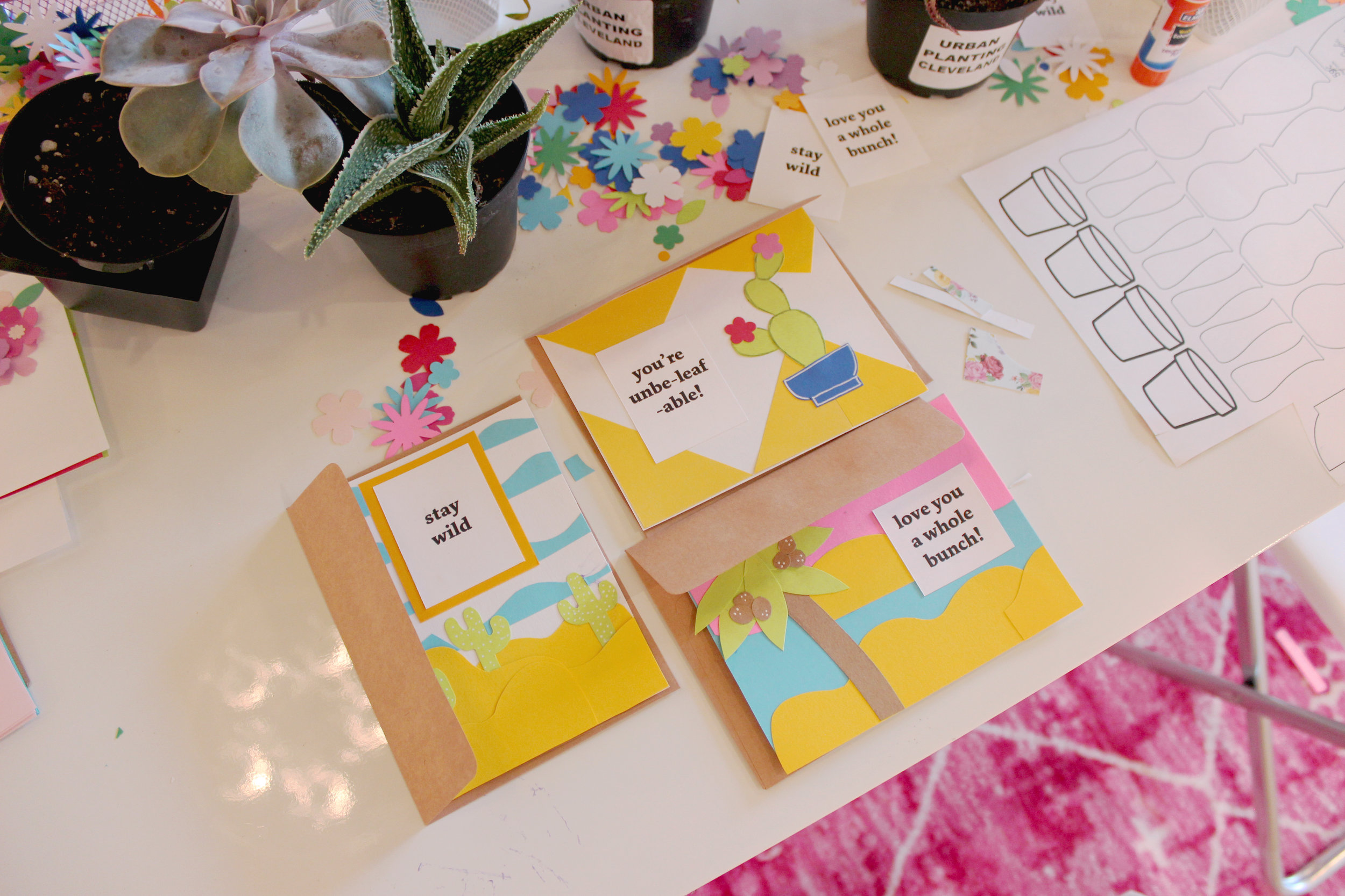 Love the yellow theme with Rebecca's cards!