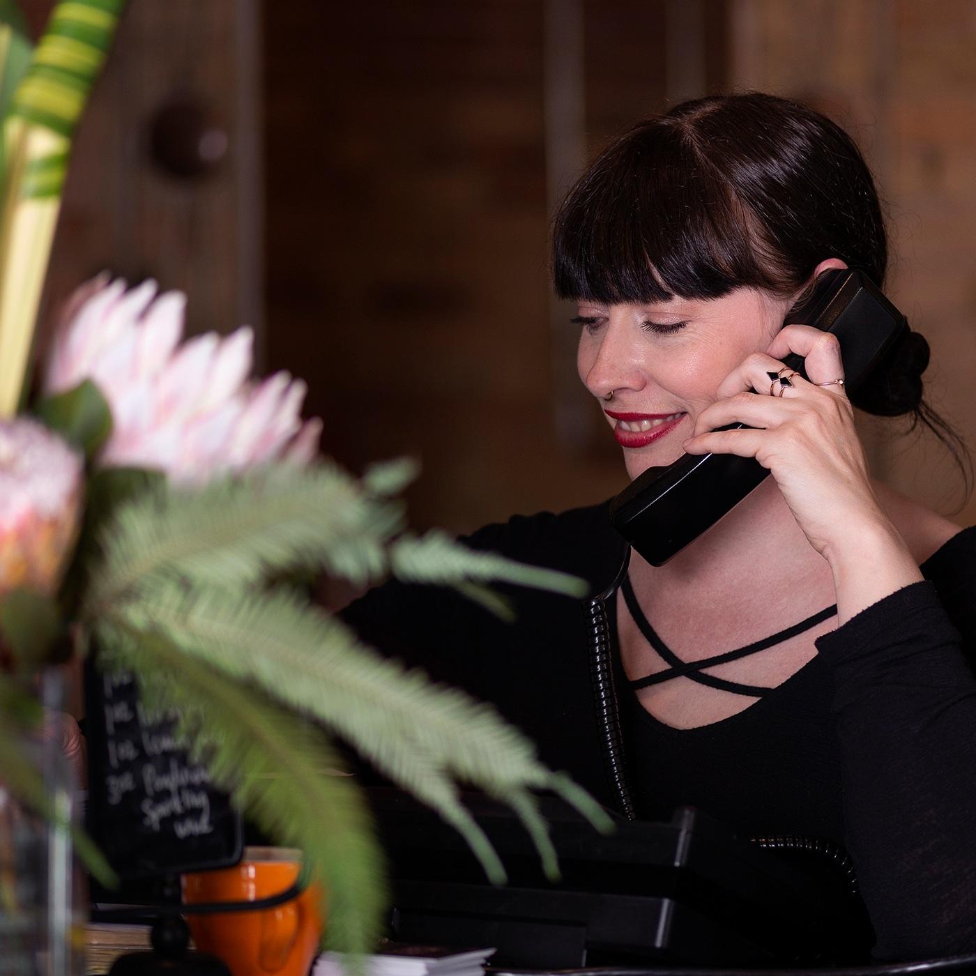 Lindsay Answering Phone