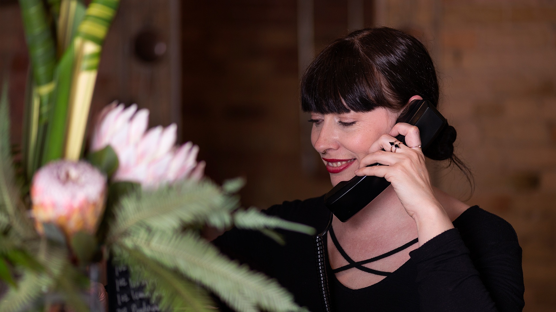 Lindsay+answering+phone
