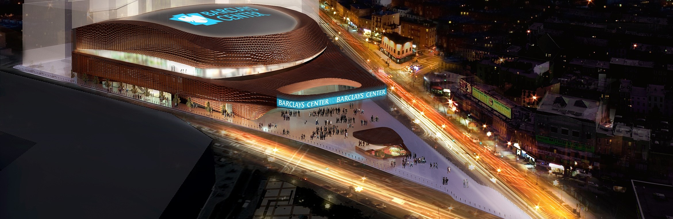 Barclay's Center, Home of The NBA NY Nets, dining, shopping and concert hall