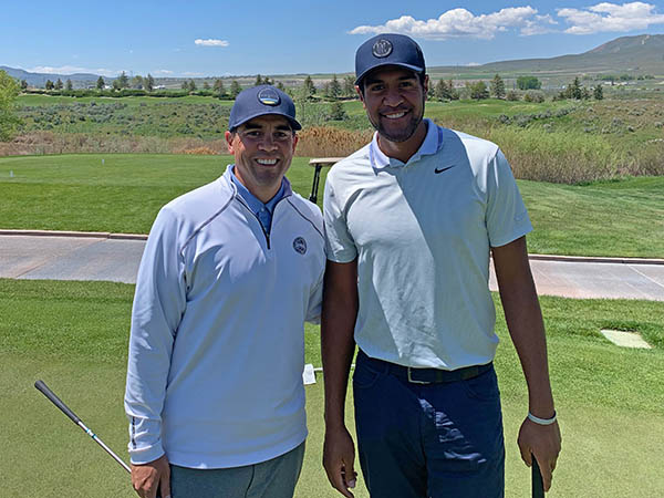 "PGA Director Tele Wightman (left) with Milton Pouha ""Tony"" Finau (right)"