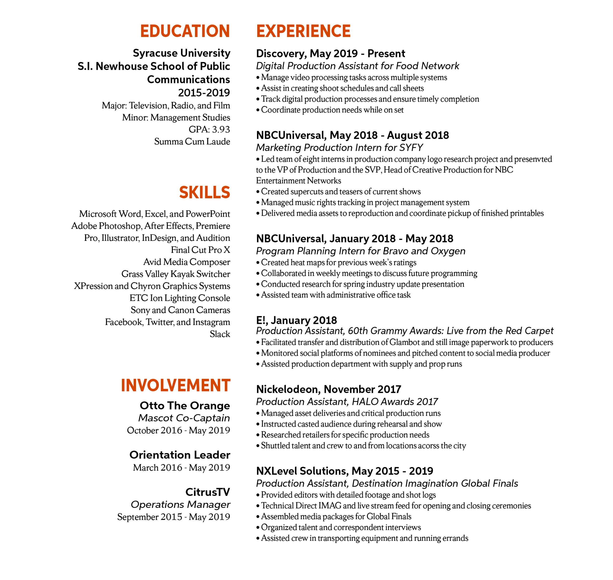 Resume — Tim Hultman
