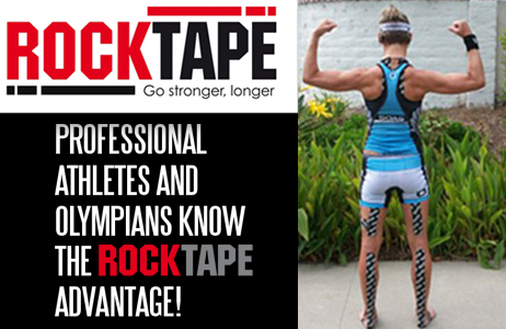 Rock Tape is an athletic tape that provides support and temporary relief from nagging injuries and setbacks while maintaining optimal performance.