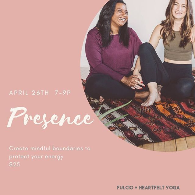 Hi friends - ITS A GIVEAWAY ❤️ You all loved Presence so much so decided to bring it back! I'm excited to be teaming up with awesome women again for the Presence II workshop April 26th from 7-9p.  If you haven't heard about Presence II yet, it's a self-care workshop that was created with the intention of helping you conserve your energy and protect yourself from toxicity. Think yoga, journal prompts, and self-care treats!  To help you get just as excited as us, we're launching a giveaway today until Tuesday night with one FREE ticket to Presence, in addition to some special treats from Bondu and Botani Bites!  To entry follow the next three steps: 1. Follow all 4 accounts involved with Presence. @heartfeltyogastudio @fulcio.life @yourbondhu @botanibites  2. Tag a friend who could use some more self-care in their life  The winner will be announced Wednesday!  Good luck!