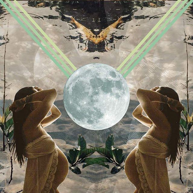 En attendant Flora @noir.kala... ✨Collage réalisé avec des photos de @vanessaserhan & @biancadjardins . . . #collage #heart #art #creativity #create #cosmiccollag #dreamcollage #dreamincollages #vision #moon #pregnant #grossesse #motherhood #pregnancy