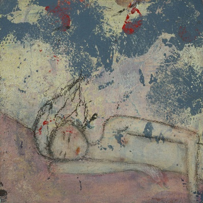 "Eyes Closed, 4""x4""   (SOLD)"