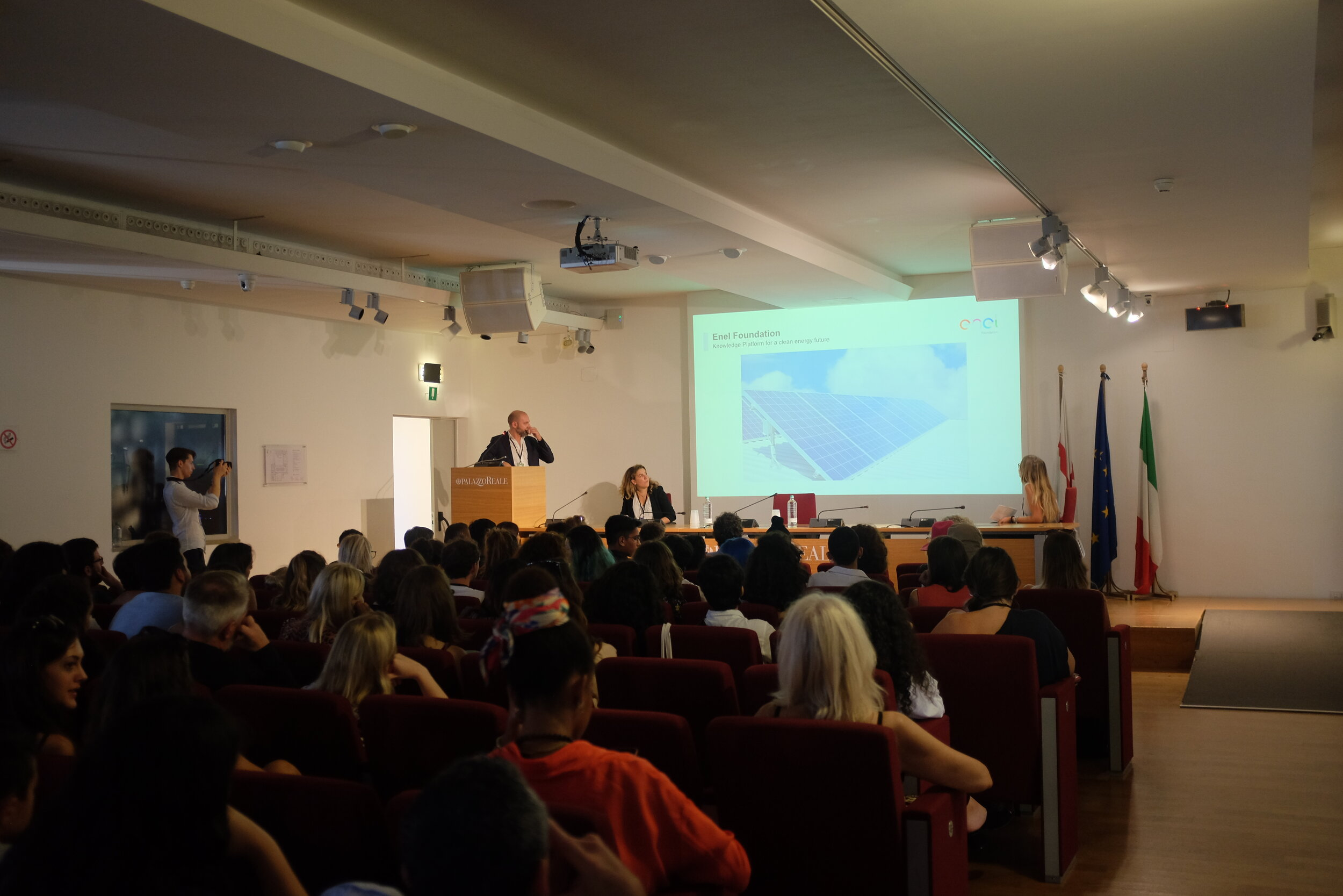 - Opening Ceremony at Palazzo RealeGuest speakers from UNRIC, Enel Foundation and UNAFF.