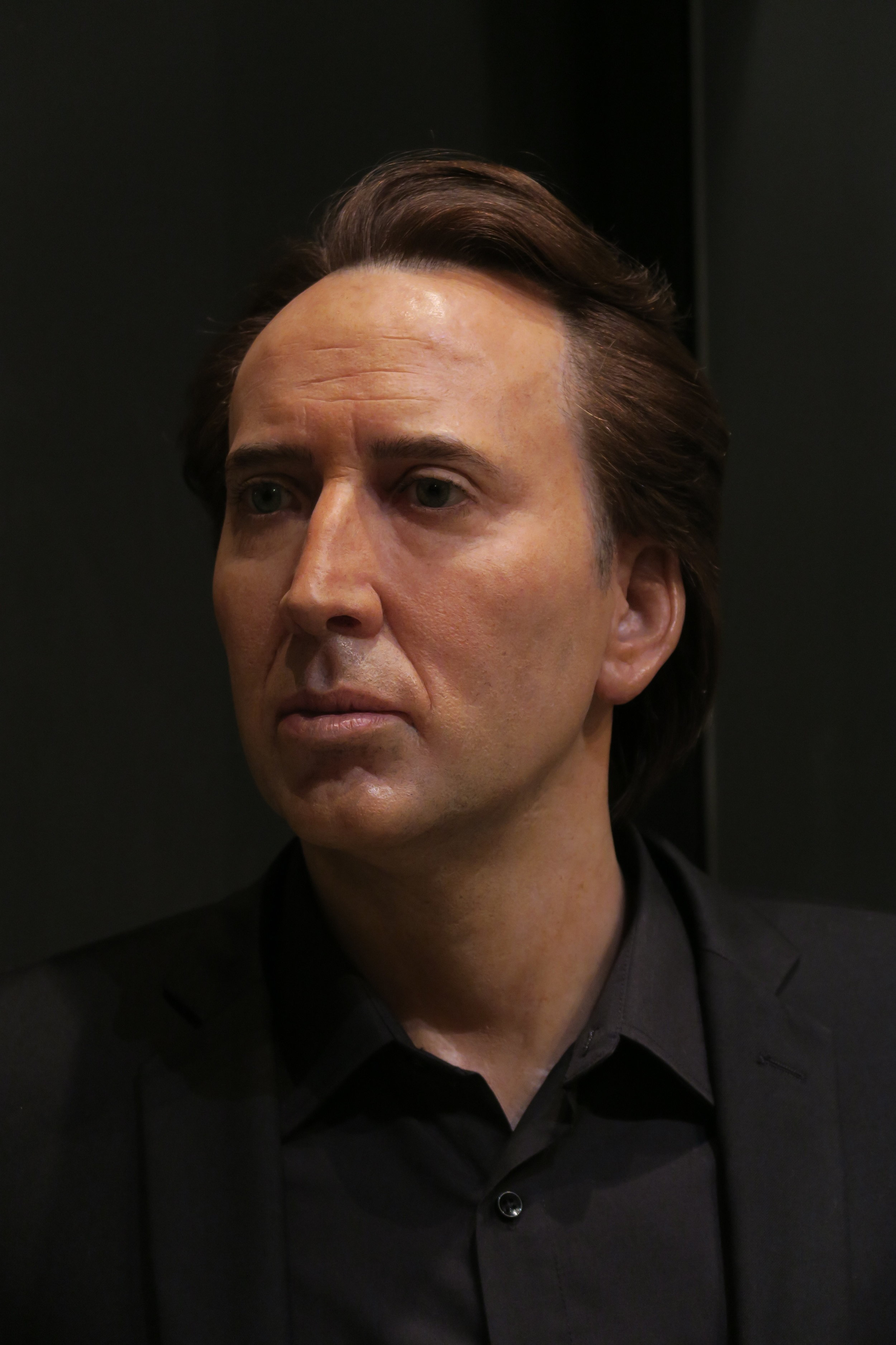Wax sculpture - Modelling by Eric Saint Chaffray - Nicolas Cage - Credit Musée Grévin