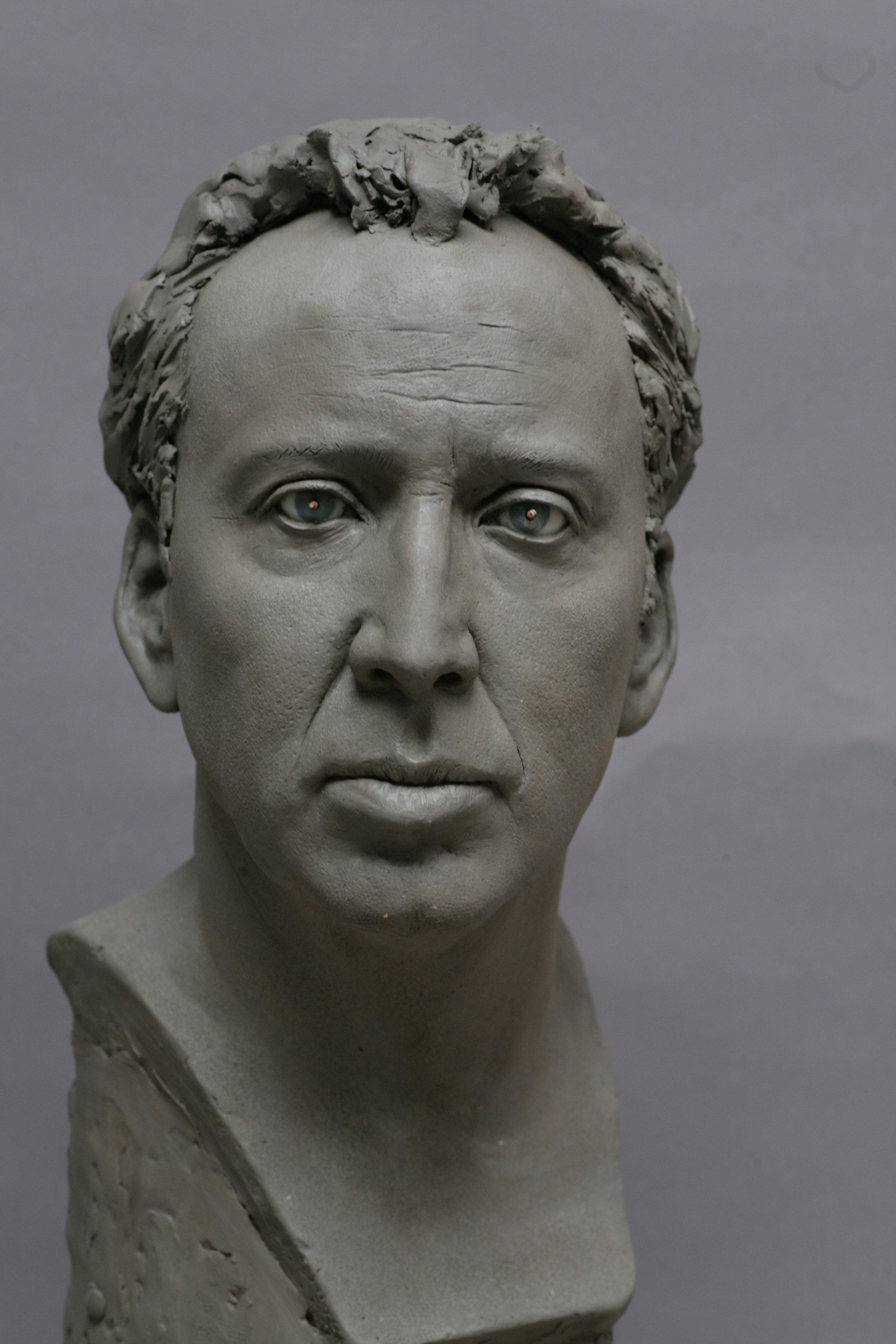 Nicolas Cage - Clay sculpture by Eric Saint Chaffray - Crédit Musée Grévin