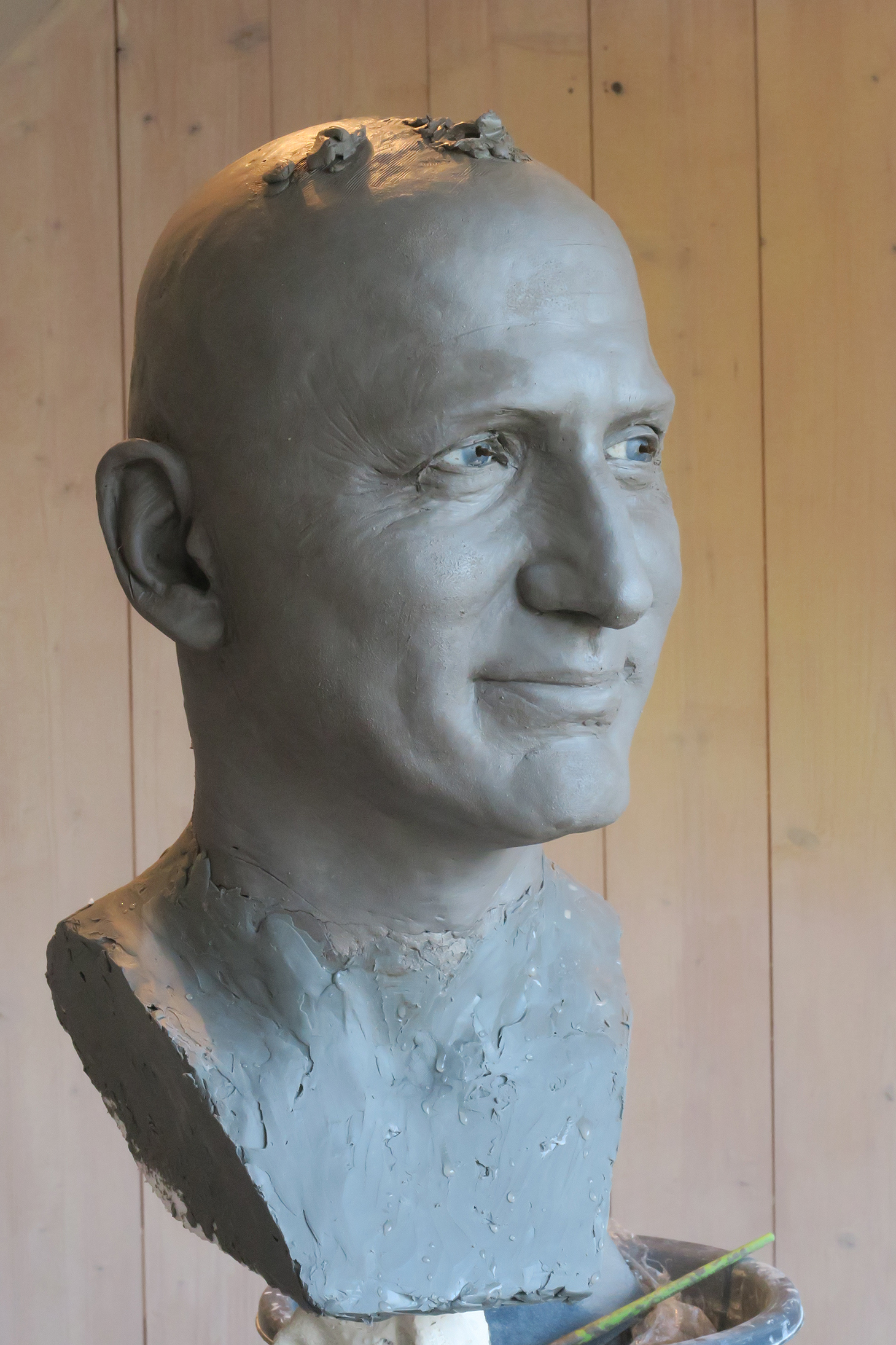 Justin Trudeau - Clay sculpture by Eric Saint Chaffray - Credit Musée Grévin