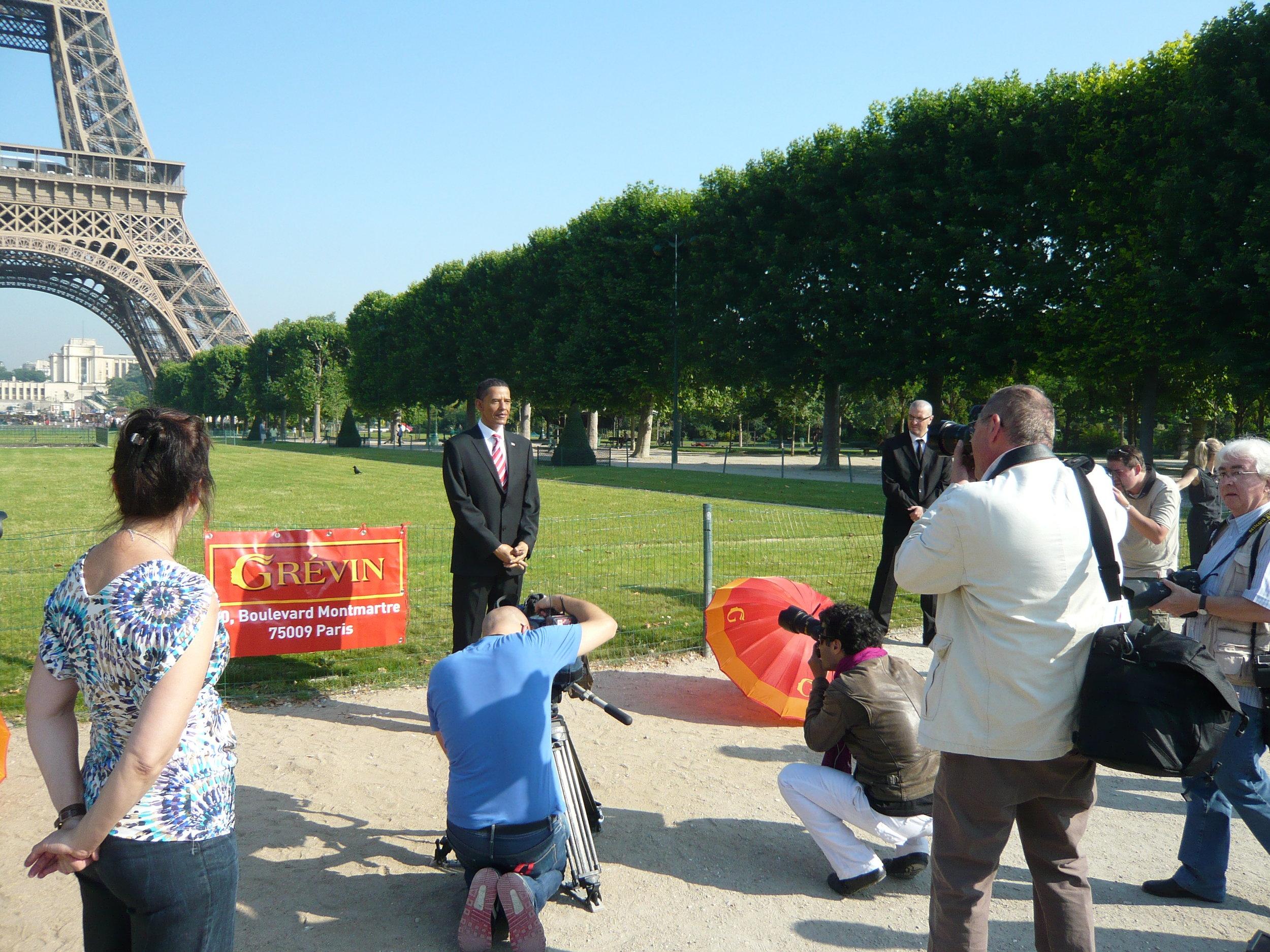 Barack Obama - Wax sculpture - Modelling by Eric Saint Chaffray - Credit Musée Grévin