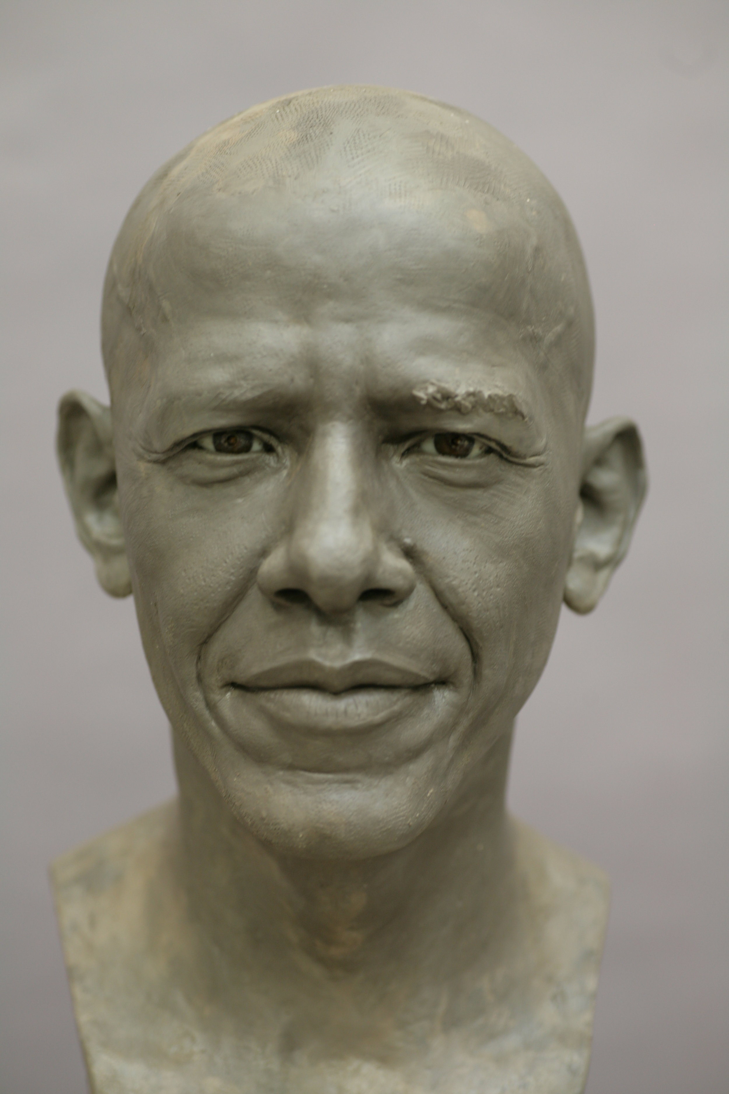 Barack Obama - Clay sculpture by Eric Saint Chaffray - Credit Musée Grévin