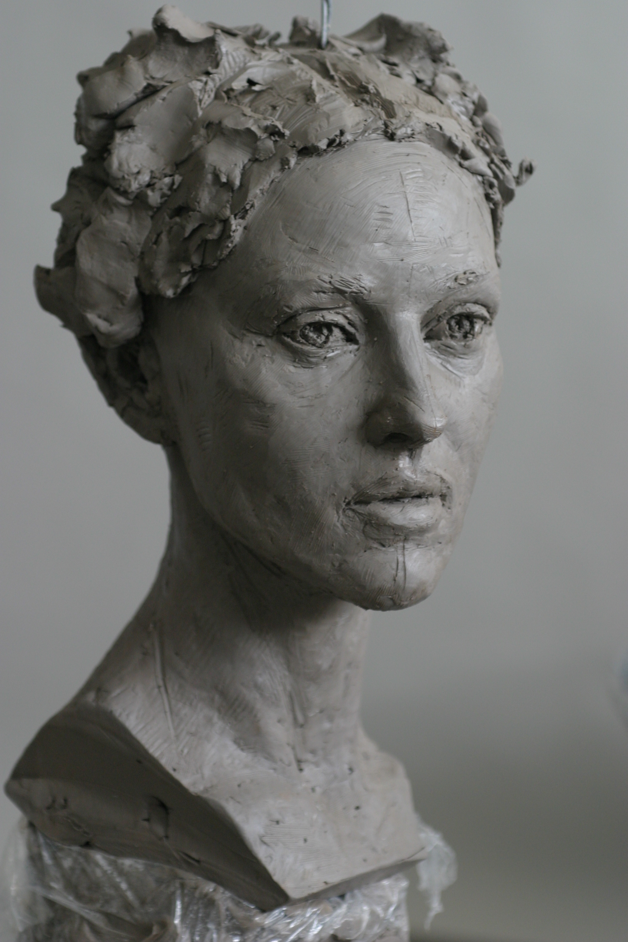 Monica Belluci - Clay sculpture by Eric Saint Chaffray - Credit Musée Grévin