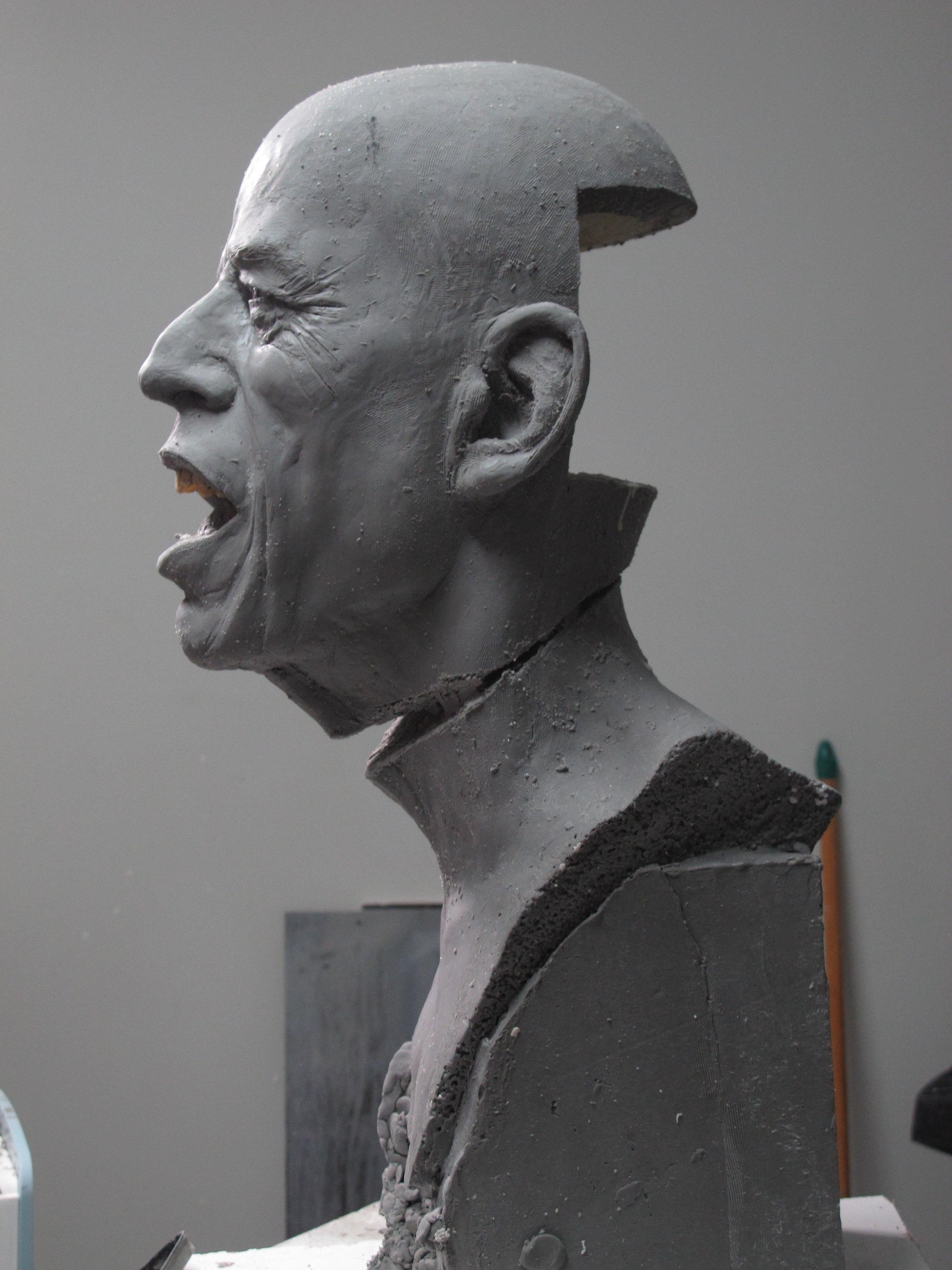Mick Jagger - Clay sculpture by Eric Saint Chaffray - Credit Musée Grévin