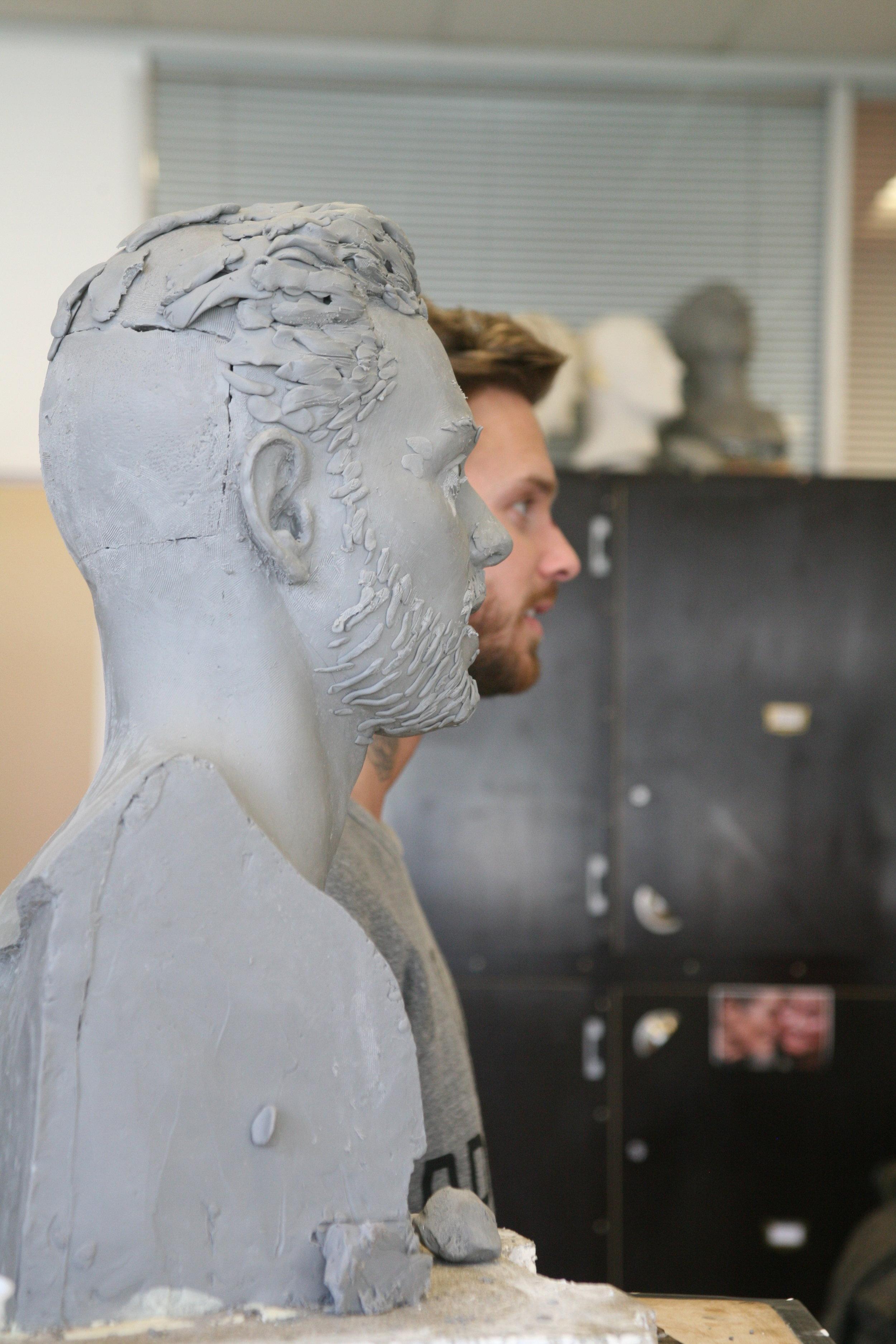 Matt Pokora - Clay sculpture by Eric Saint Chaffray - Credit Musée Grévin