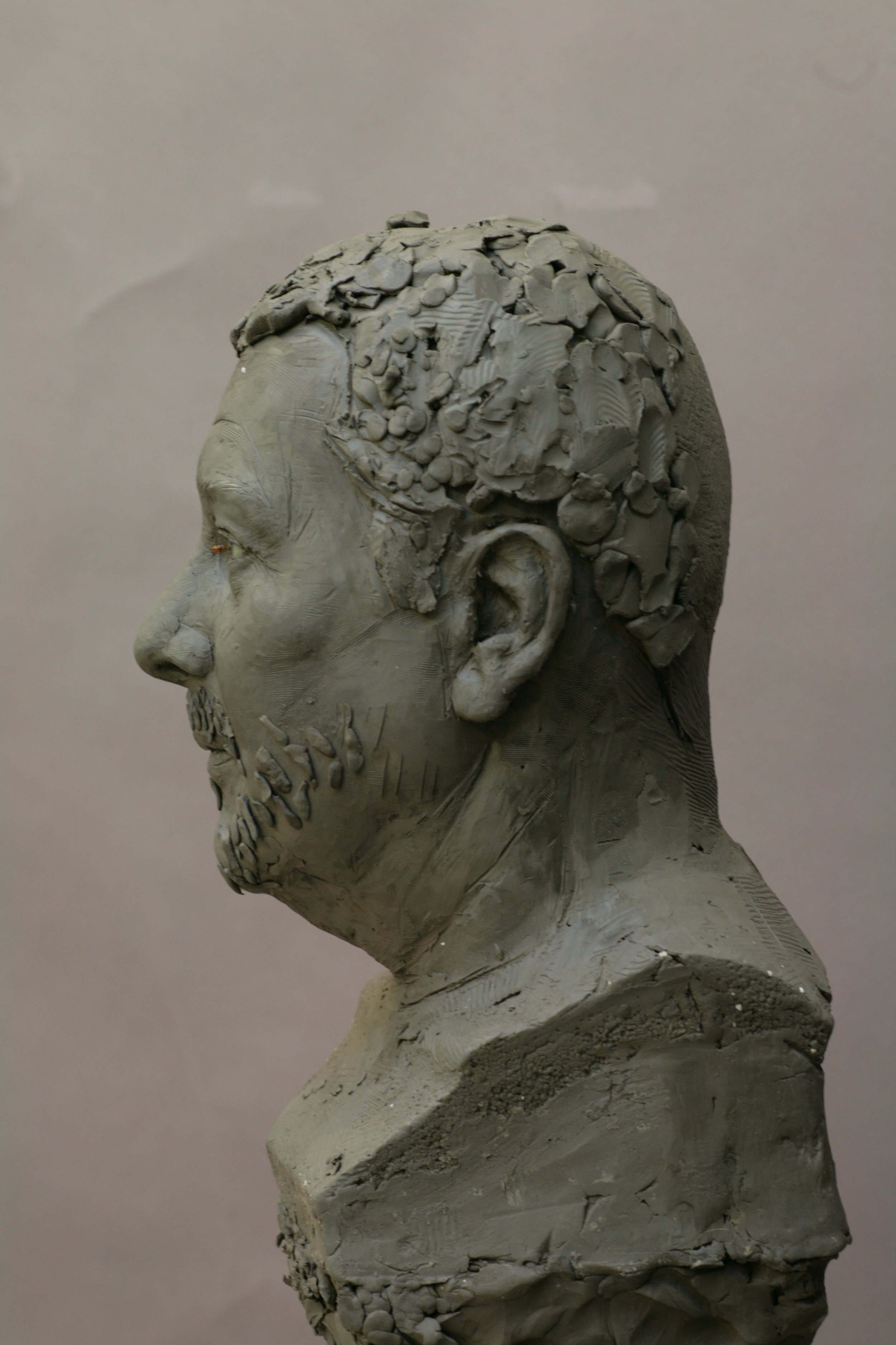 Philippe Starck - Clay sculpture by Eric Saint Chaffray - Credit Musée Grévin