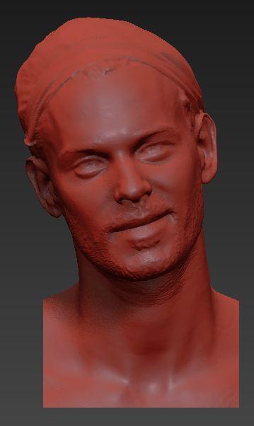 Fichier numérique issu du scan 3D - Matt Pokora - Crédit Musée Grévin