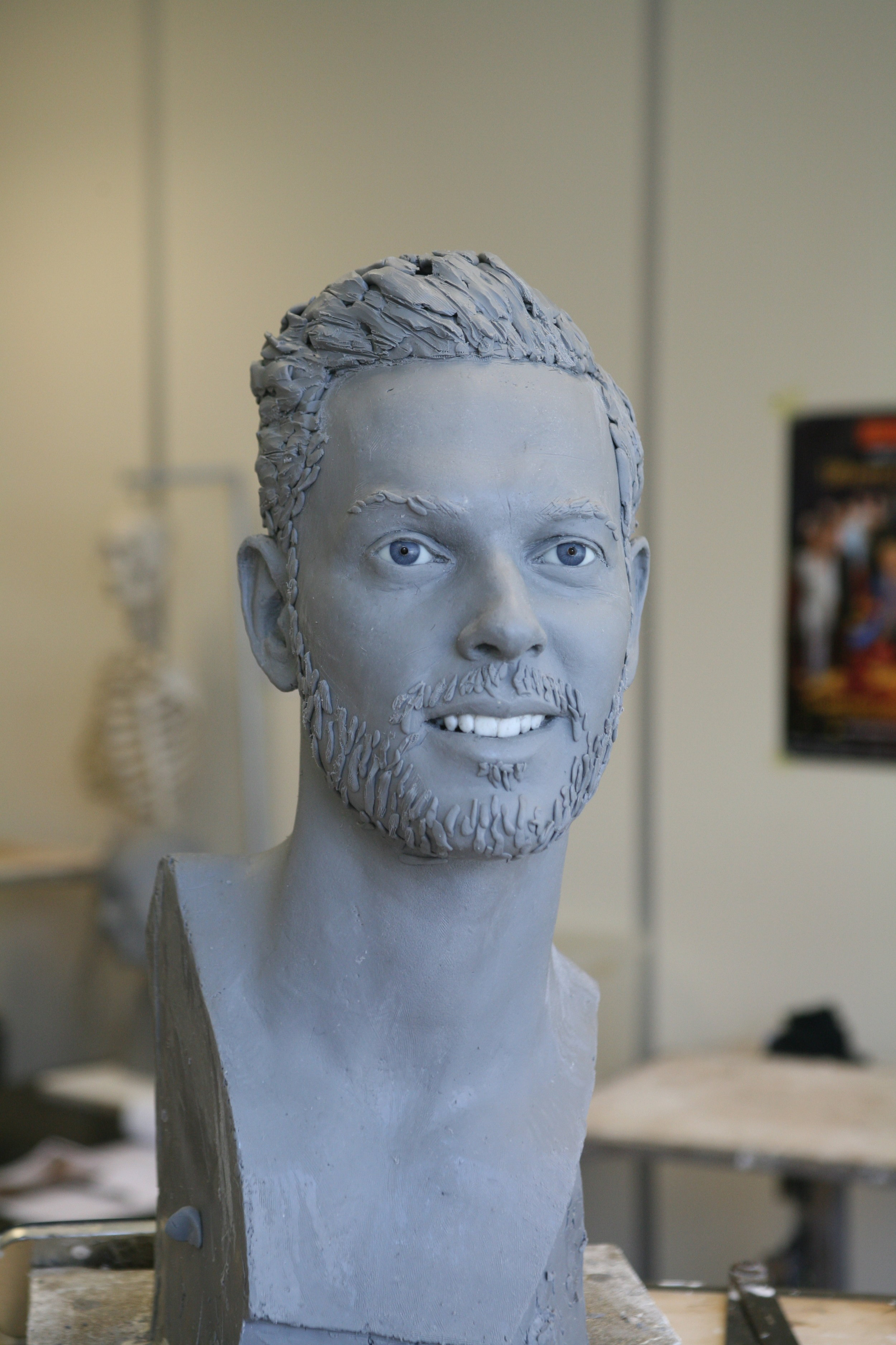 Clay sculpture by Eric Saint Chaffray - Matt Pokora - Credit Musée Grévin