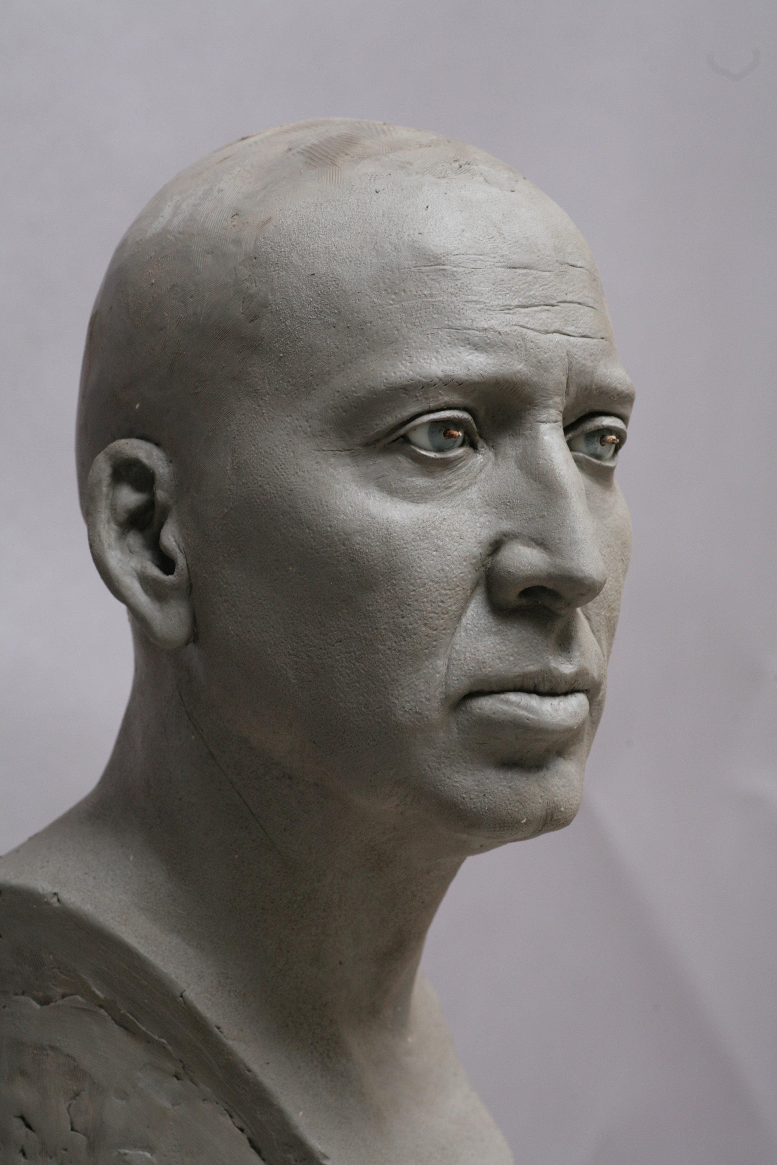 Nicolas Cage - Sculpture terre par Eric Saint Chaffray - Crédit Musée Grévin