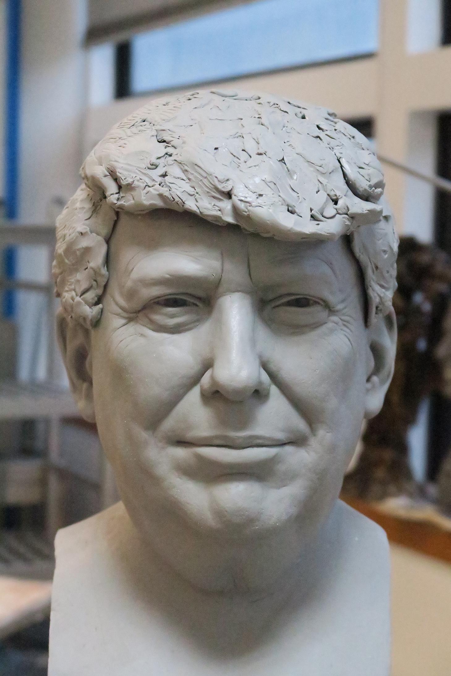Donald Trump - Sculpture en terre par Eric Saint Chaffray - Credit Musée Grévin